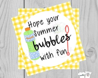Instant Download Printable Bubble Tag, Summer Party Tag, Summer Printable, Pool Party Tag, Gift, Summer Tag, Instant Download, End of School