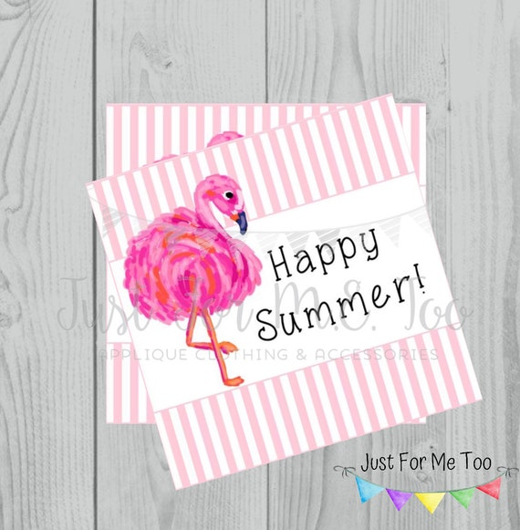 Instant Download Printable Flamingo Tag, Summer Party Tag, Flamingo Printable, Pool Party Tag, Gift, Party Favor, Instant Download