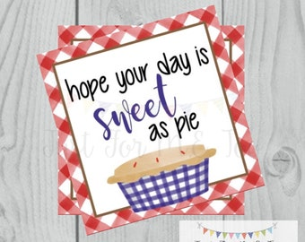 Fall Printable Tags, Instant Download, Fall Tags, Pumpkin Pie Tags, Printable, Apple Pie, Happy Fall, Printable Pie Tag, Friends
