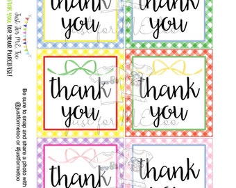 Instant Download Printable Thank You Tags, Thank you Digital Download, Nurse, Teacher, Community Helper, Friend, Teacher, Coworker