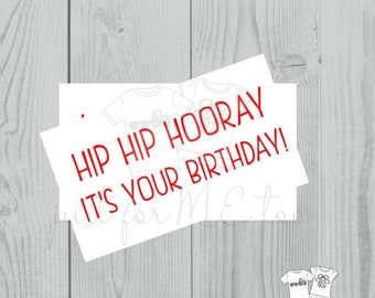Instant Download Printable Birthday Tags, Printable Party Tags, Birthday Printable, Happiness Tags