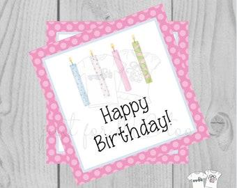 Happy Birthday Digital Tags, Printable Party Tags, Birthday Printable, Happiness Tags, Birthday Tags, Gift Tags, Party Tags, Girl Birthday