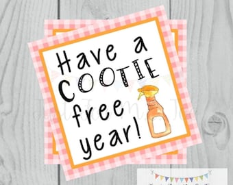 Printable Tags, Cootie Free Tag, Back to School