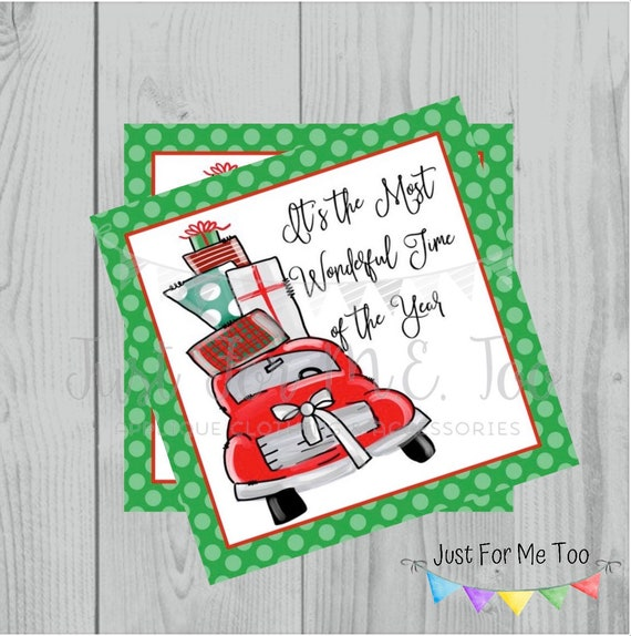 Most Wonderful Time of the Year Christmas Printable Tags, Instant Download, Christmas Tags, Merry Christmas, Lunchbox, Printable