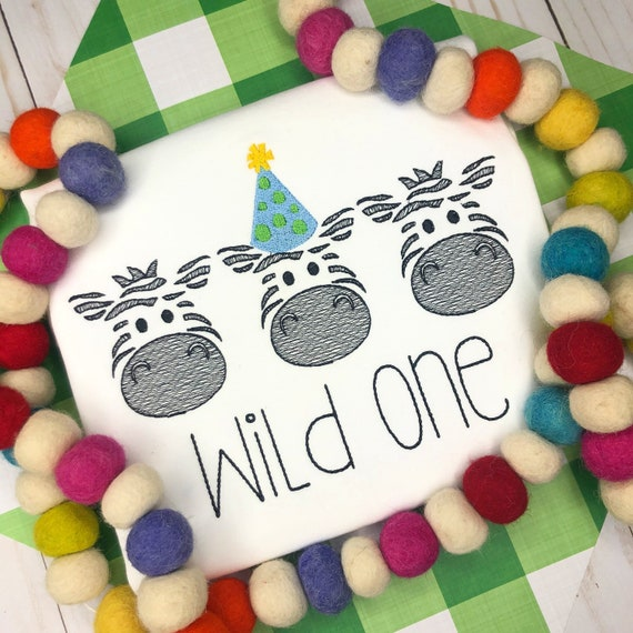 Personalized Zoo Animal Birthday Vintage Stitch Shirt- Vintage Stitch Zoo Shirt- Birthday Zebra- Personalized Zoo Party- Wild One