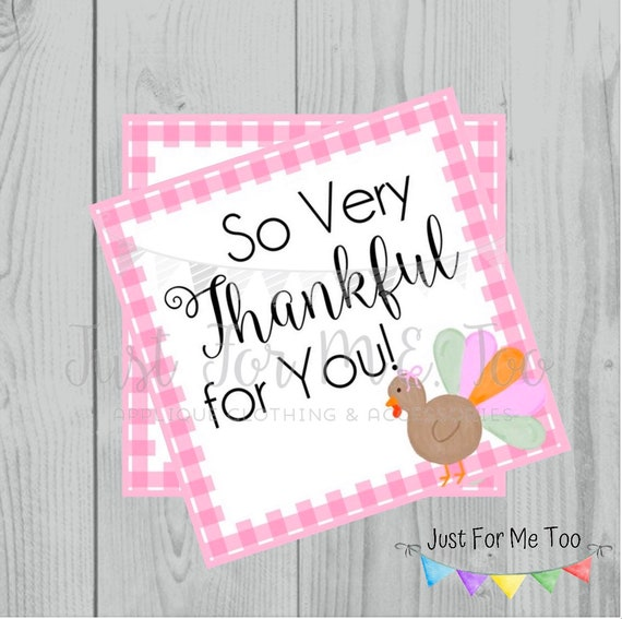 Fall Printable Tags, Instant Download, Fall Tags, Turkey Gift Tags, Birthday, Lunchbox Notes, Printables, Girls, Thankful for You