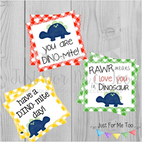 Instant Download Printable Dinosaur Tags, Dino-Mite Lunch Tags, Lunch Box Note, Printable, Instant Download, Dinosaur Tag, Friend