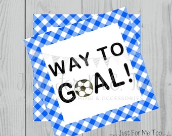 Soccer Printable Tags, Way To Goal, Instant Download, School Tags, Cheerleading Tags, Cheerleader, Soccer