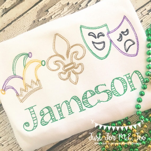 Personalized Mardi Gras embroidery Shirt, Mardi Gras Shirt