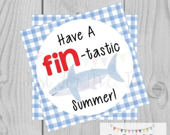 Instant Download Printable Sumer Tag, Summer Party Tag, Summer Printable, Pool Party, Summer Tag, Instant Download, End of School, Shark