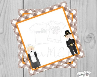 Thanksgiving Printable Tags, Instant Download, Blank Tag, Pilgrim Gift Tags, Printable, Thanksgiving, Place Cards, Thanksgiving table, Gift