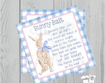 Easter Bunny Printable Tags, Easter Favor Tags, Bunny Bait, Happy Easter Tag, Printable Tags, Party Favors