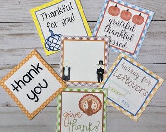 November Bundle Printable Tag Bundle, November Tags, Thanksgiving Tag, Thinking of You Tag, Pintable, Download, Square Tag