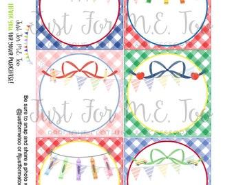 School Printable Tags, Blank School notes, Lunchbox notes, Lunch Box Note, Printable, Instant Download, Back to School, School Treats