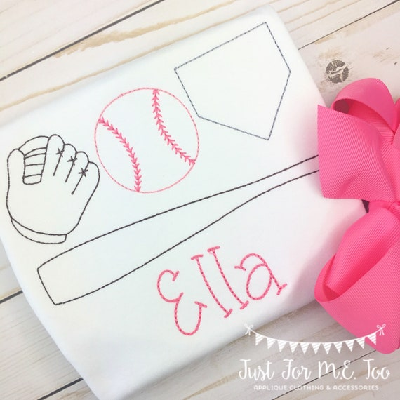 Personalized Girls Baseball Shirt