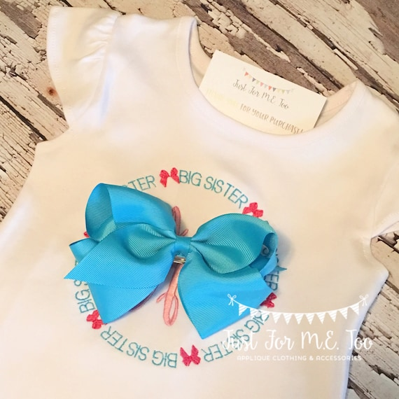 Personalized Big Sister Monogrammed Shirt, Sibling Shirt, Big Sister Shirt, Monogram Big Sister Shirt