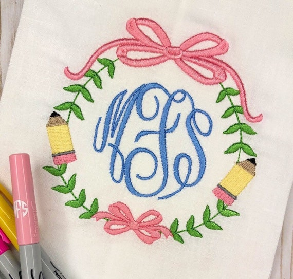 Personalized Back to School Stitch Embroidery Shirt, pencil vintage shirt, 1st day of school, library, embroidered school frame, FREE SHIP