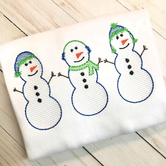 Personalized Snowman Shirt, Winter Applique, Snowman Applique, Boy Snowman