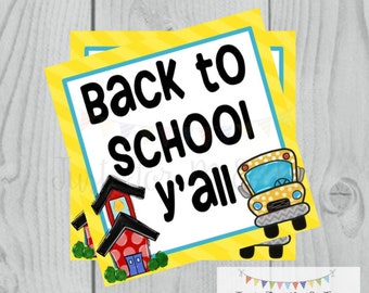 Back to School Printable Tags, Back to School, First Day of School Tags, School Tags, Lunchbox Notes