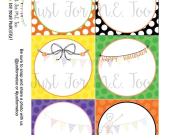 Instant Download Blank Printable Tags, Pumpkin, Halloween, Ghost, Lunch Box Note, Printable, Instant Download, Halloween Tags Blank Notes