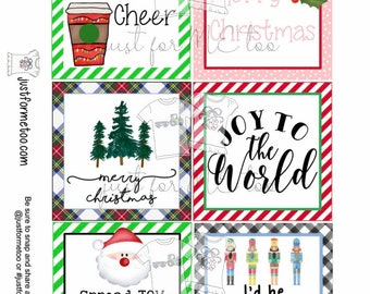 Christmas Bundle 1 Printable Christmas Tags, Instant Download, Christmas Gift Tag, Gifting Tags