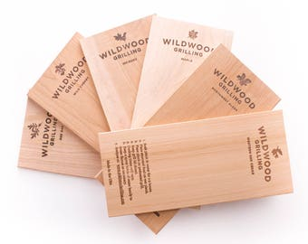 Grilling Planks Variety Pack (6 Wood Types): Father's Day, Husband Gift, For Him, Boyfriend Gift, Dad Gift, Man Gift, BBQ, Outdoors, Cooking