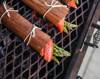 5th Anniversary Gift for Her: 10 Cedar & 10 Alder Wood Cooking Wraps - Grill, Wife, Girlfriend, Chef, Kitchen, Home, Dining, Entertaining