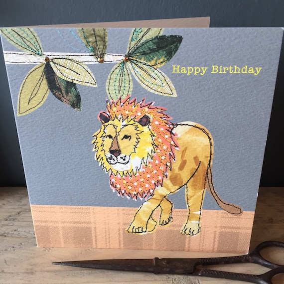 Lion-Greeting Card- handfinished