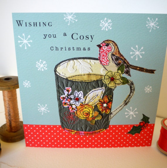 Cosy Robin-Greeting Card- handfinished