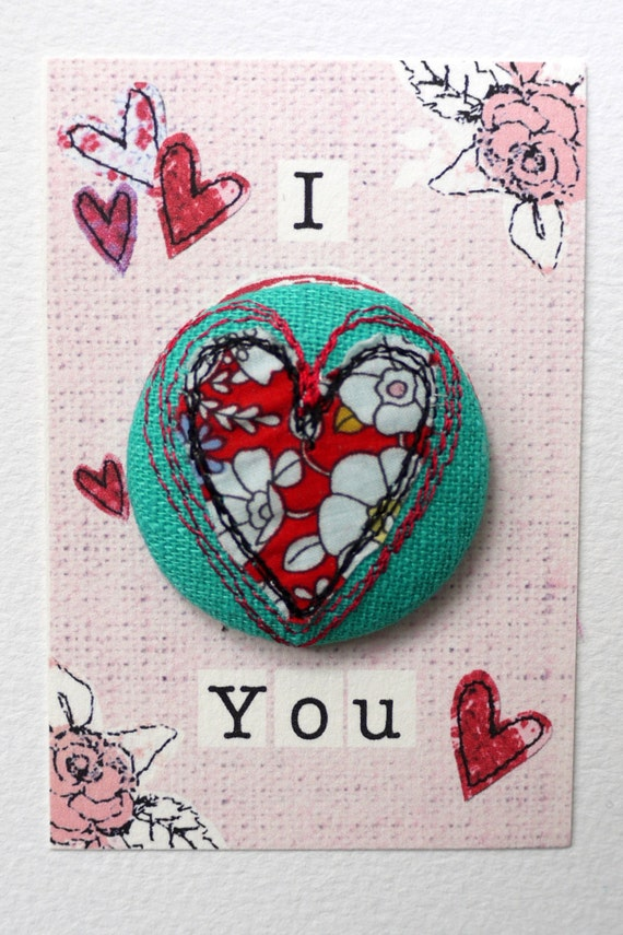 stitched heart badge, various colours