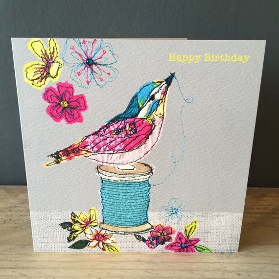 Thread-Greeting Card- handfinished