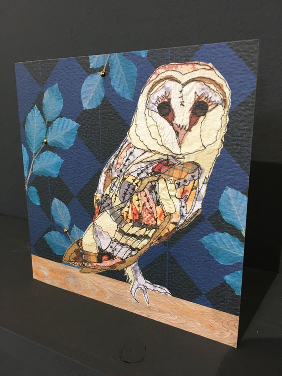 Owl-Greeting Card- handfinished