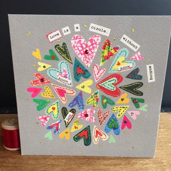Circle of love-Greeting Card- handfinished