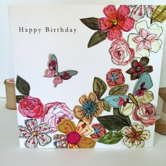Floral Garden-Greeting Card- handfinished