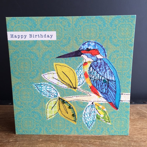 Kingfisher-Greeting Card- handfinished