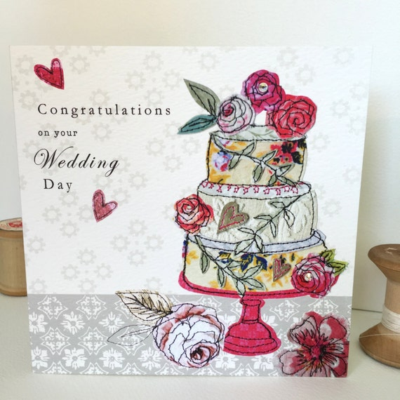 Wedding Cake-Greeting Card- handfinished