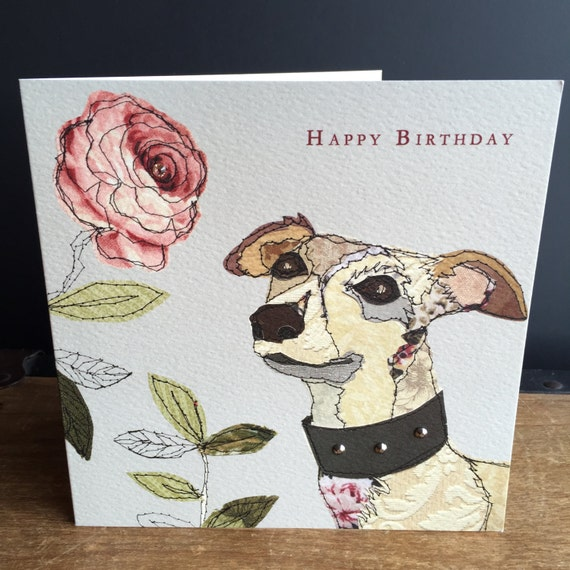 Dog-Greeting Card- handfinished