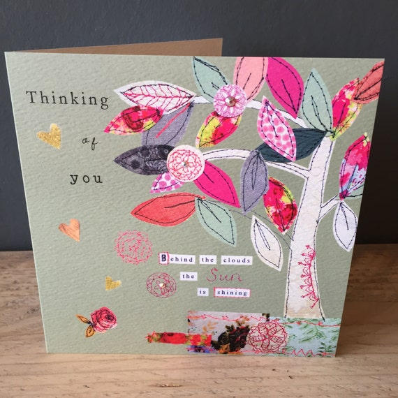 Thinking of You-Greeting Card- handfinished