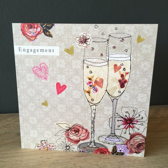 Engagement-Greeting Card- handfinished