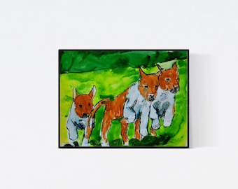 Smooth collie portrait, perfect gift for dog lover