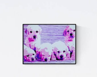 Custom pet portrait: Labrador - dog portrait - pet lover gift - custom pet portraits - pet painting - personalized pet - pet portrait