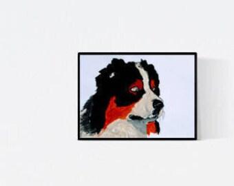Pet Portrait: Australian Shepherd - original art - pet lover gift - pet memorial - custom dog portrait - pet painting - personalized pet