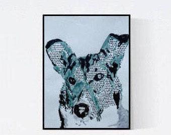 Pet Portrait: Smooth Collie, original art - pet lover gift - pet memorial - custom dog portrait - pet painting - personalized pet