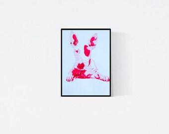 Geschenk für Hundefans - Pop Art Illustration Bull Terrier - Bull Terrier Zeichnung - Zeichnung - Pop Art Illustration - Terrier Porträt
