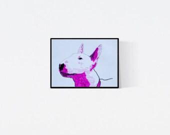 Bull Terrier: Geschenk für Hundefans - Pop Art Illustration  - Zeichnung - Porträt nach Foto - Hundeporträt