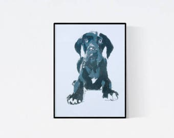 Personalized pet: Great Dane - dog portrait made by pet portrait artist - custom dog portrait - dog illustration - pet lover gift