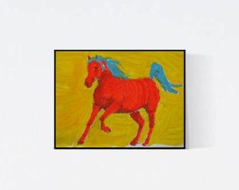 Pferdeportrait - Geschenk für Pferdefans - Pop Art Illustration  - Zeichnung - Porträt nach Foto - Pferdeporträt