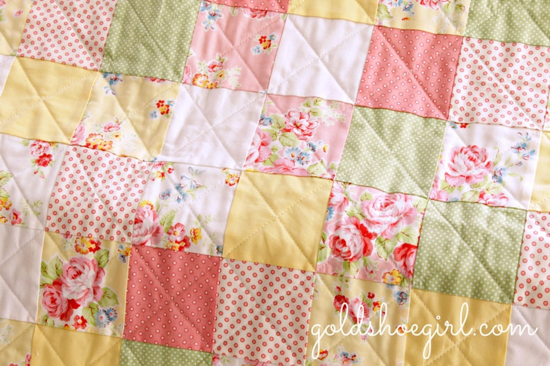 Baby Patchwork Quilt Design Your Own Quilt Custom Quilt ~ Made to Order Patchwork Quilt