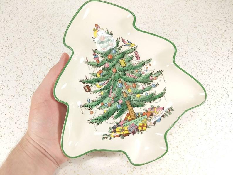 Weihnachtsbaum England.Vtg Spode England Baum Platte Weihnachtsbaum Nuss Oder Bonbonniere