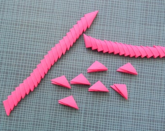 320 Hot Pink 3d Origami Triangle Pieces